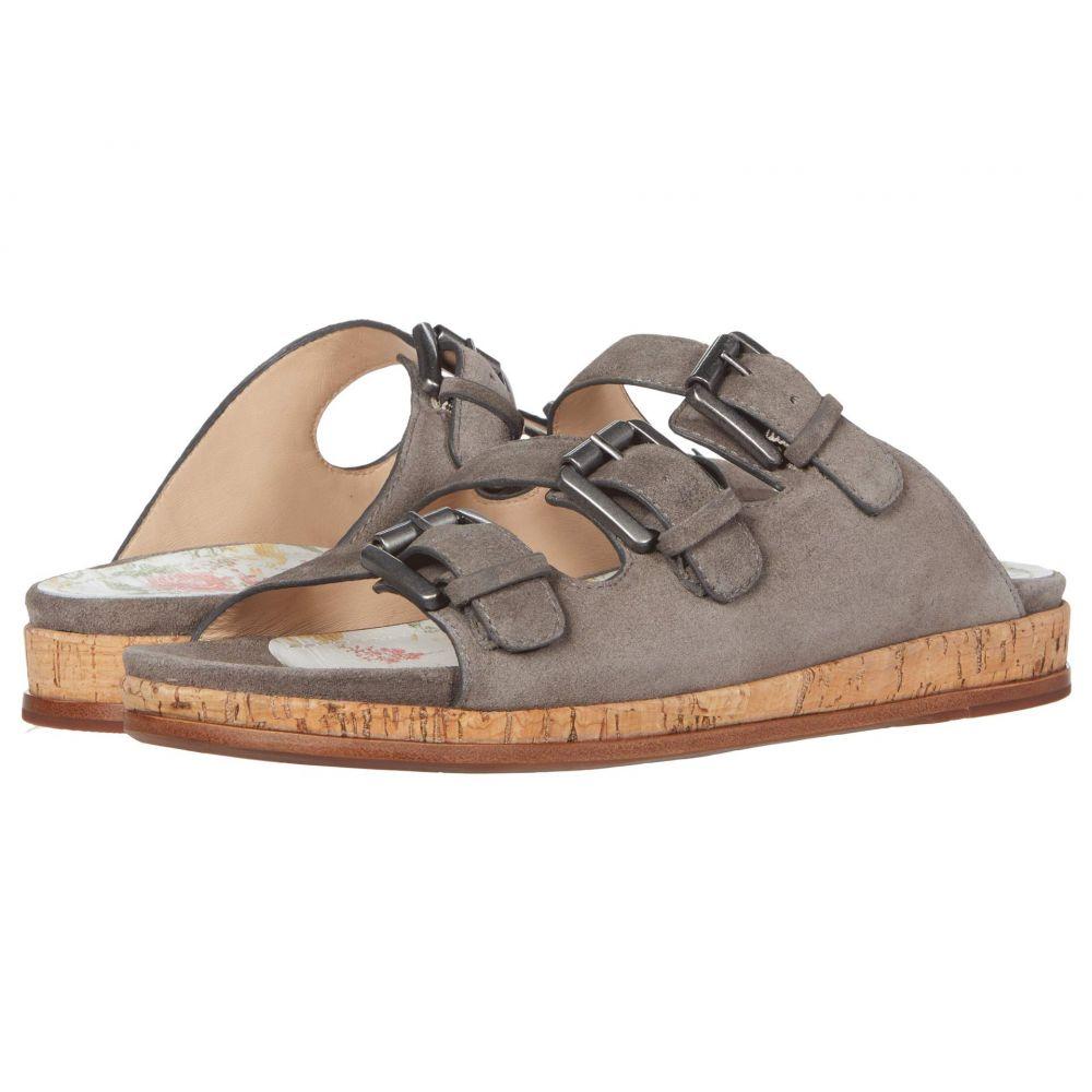 ジョンストン&マーフィー Johnston & Murphy レディース サンダル・ミュール シューズ・靴【Julia】Gray Oiled Suede
