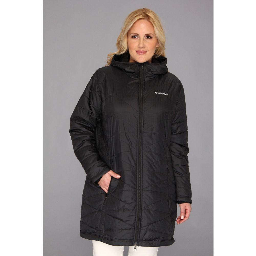 コロンビア Columbia レディース ダウン・中綿ジャケット フード 大きいサイズ アウター【Plus Size Mighty Lite(TM) Hooded Jacket】Black