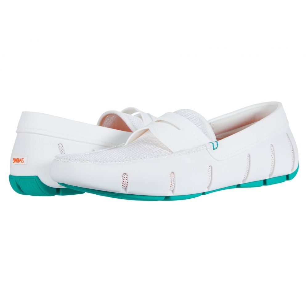 スウィムス SWIMS メンズ ローファー シューズ・靴【Penny Loafer】White/Deep Green