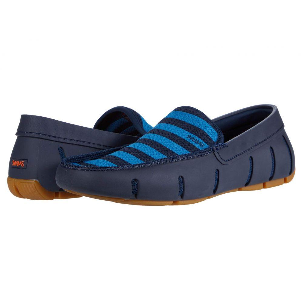 スウィムス SWIMS メンズ ローファー シューズ・靴【Striped Venetian Loafer】Navy/Turkish Tile