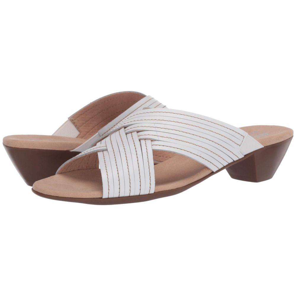 マンロー Munro レディース サンダル・ミュール シューズ・靴【Kelsey】White Leather