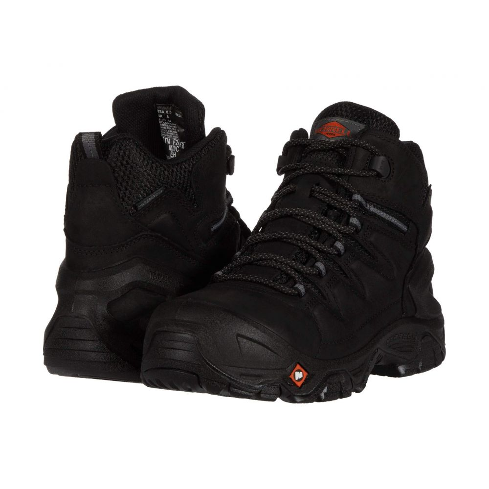 メレル Merrell Work メンズ ブーツ シューズ・靴【Strongfield Leather 6' Waterproof Composite Toe】Black