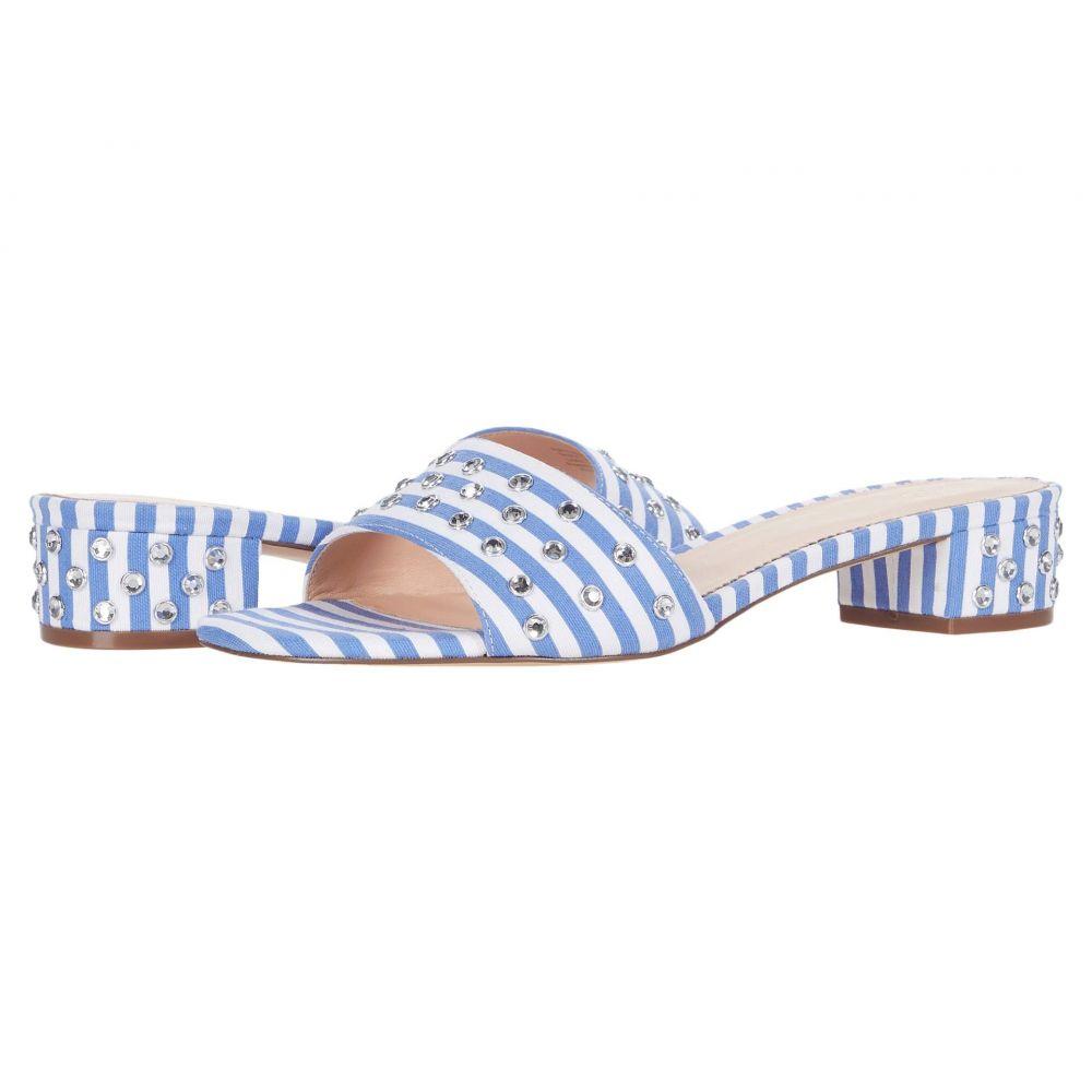 ジェイクルー J.Crew レディース サンダル・ミュール シューズ・靴【Flora Slide Stripe w/ Studs】Blue/White