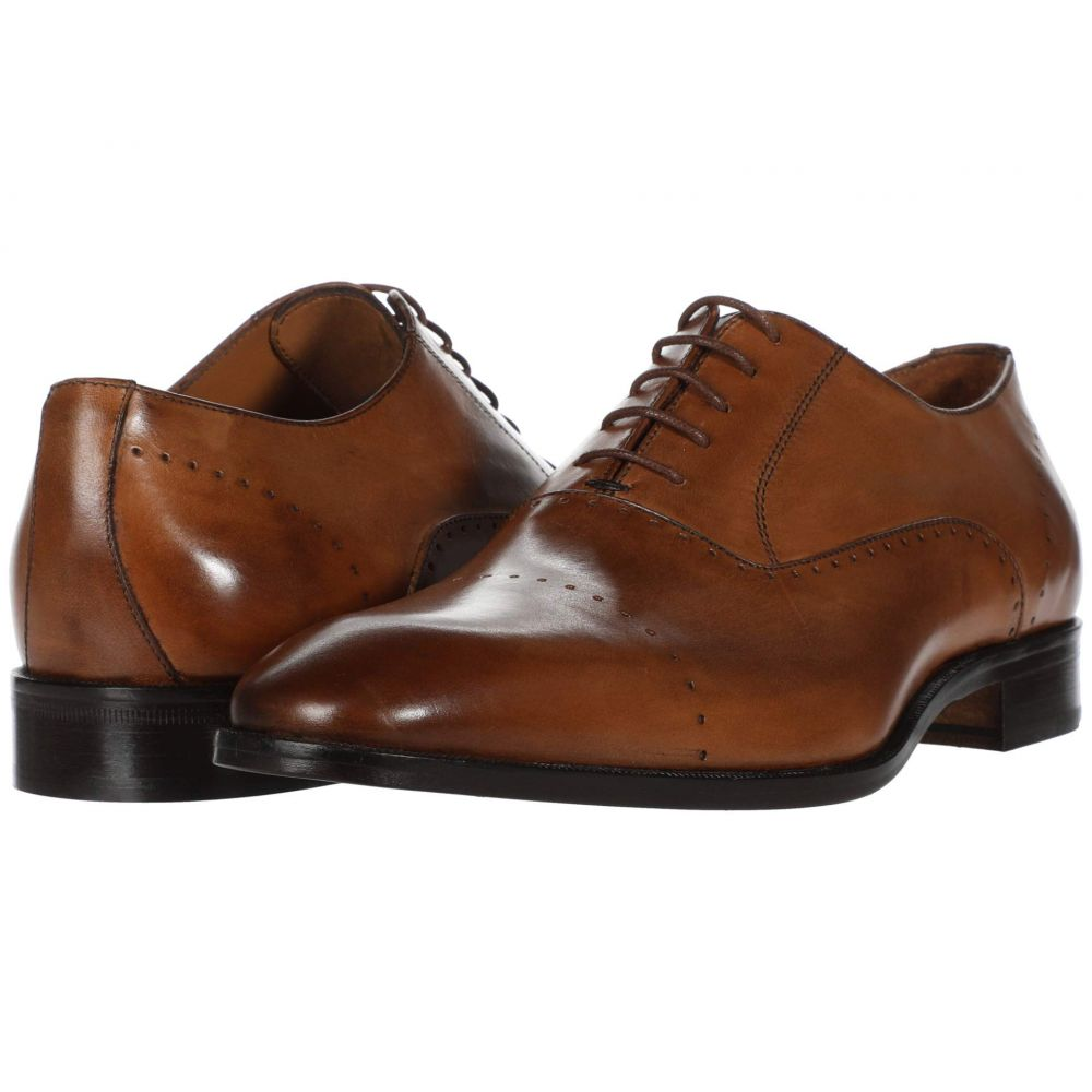 マッテオ マッシモ Massimo Matteo メンズ 革靴・ビジネスシューズ シューズ・靴【Perf Bal Cap Toe】Tan