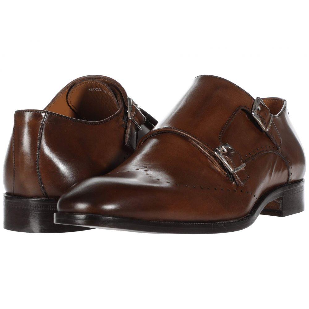 マッテオ マッシモ Massimo Matteo メンズ 革靴・ビジネスシューズ シューズ・靴【Perf Double Monk】Brandy