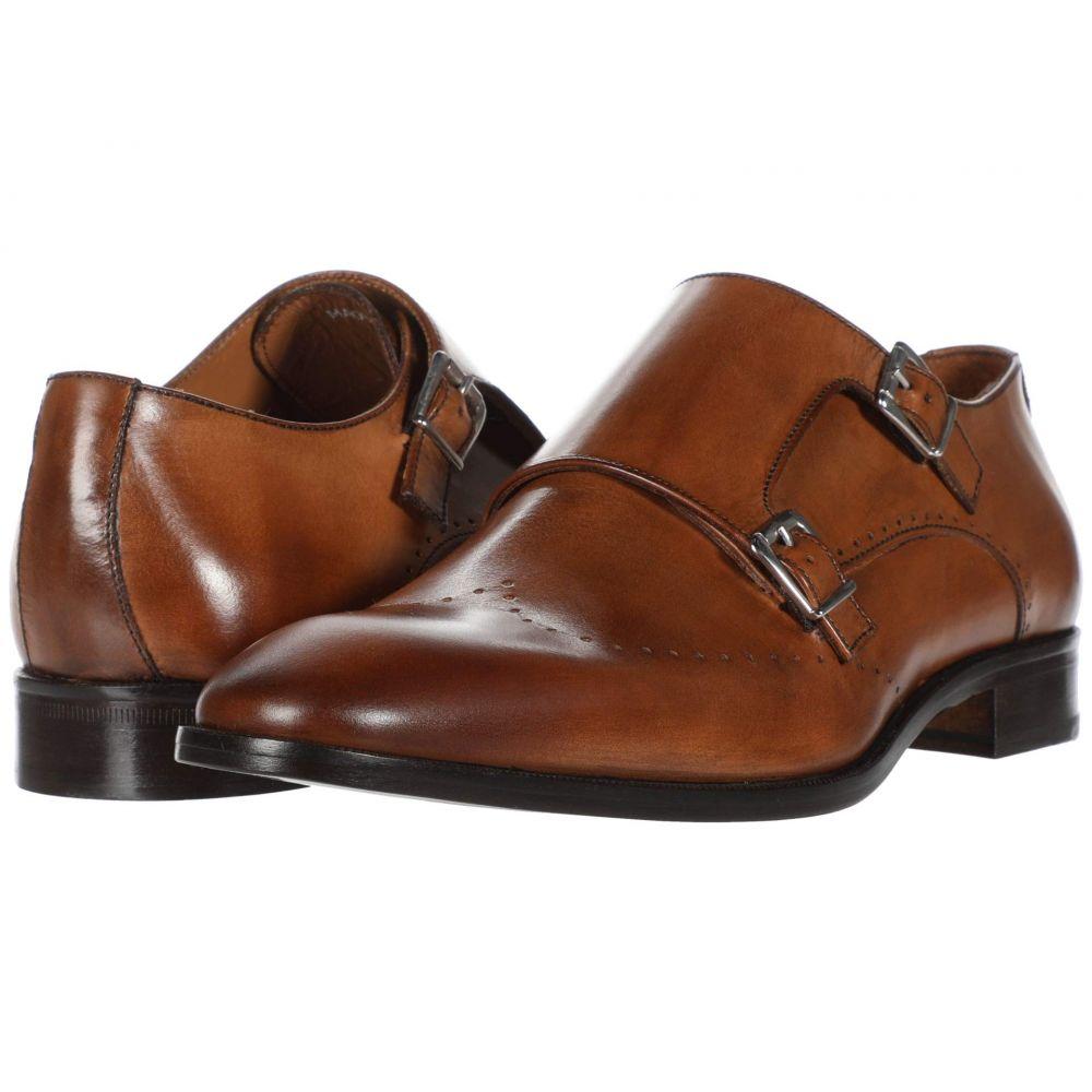 マッテオ マッシモ Massimo Matteo メンズ 革靴・ビジネスシューズ シューズ・靴【Perf Double Monk】Tan
