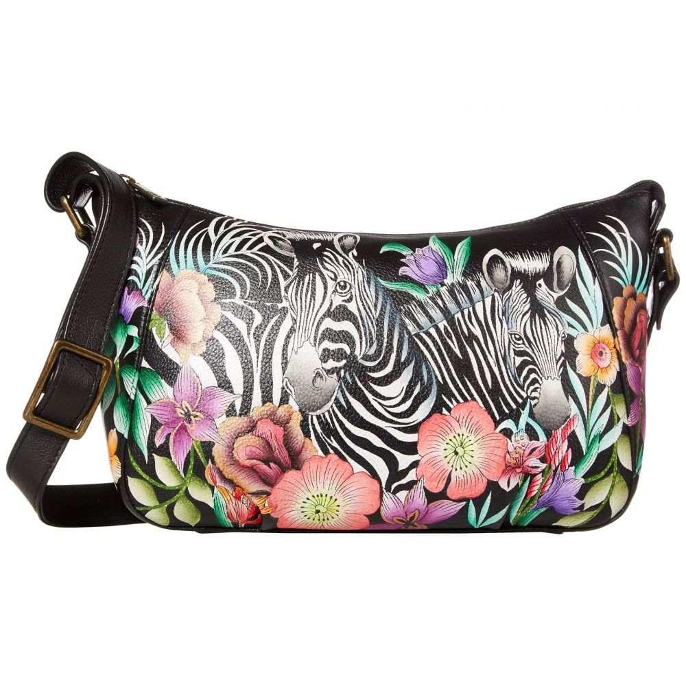 アヌシュカ Anuschka Handbags レディース ショルダーバッグ バッグ【Everyday Shoulder Hobo - 670】Playful Zebras