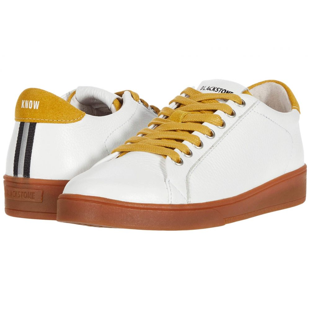 ブラックストーン Blackstone レディース スニーカー ローカット シューズ・靴【Low Sneaker Gum Bottom - RL84】White/Oil Yellow