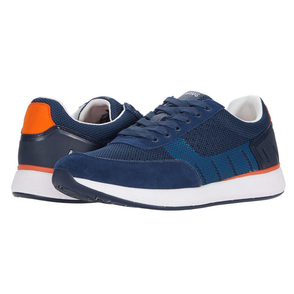 スウィムス SWIMS メンズ スニーカー シューズ・靴【Breeze Wave Athletic】Navy/White/Orange