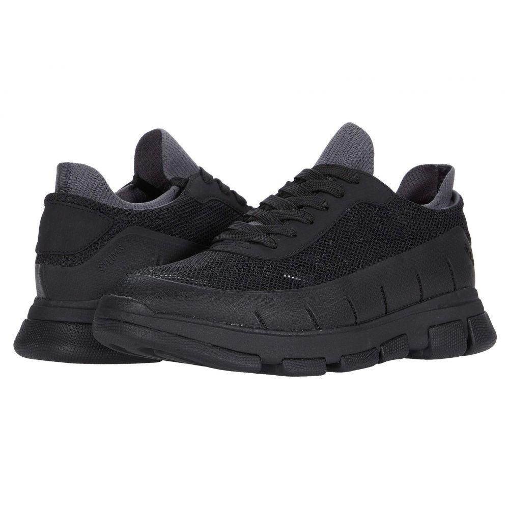 スウィムス SWIMS メンズ スニーカー シューズ・靴【City Hiker Sneaker】Black/Black