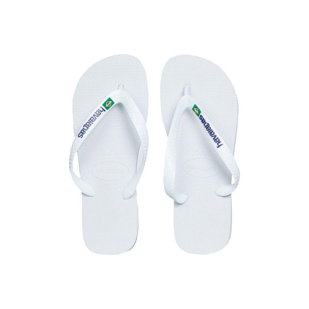 ハワイアナス Havaianas レディース ビーチサンダル シューズ・靴【Brasil Logo Unisex Flip Flops】White