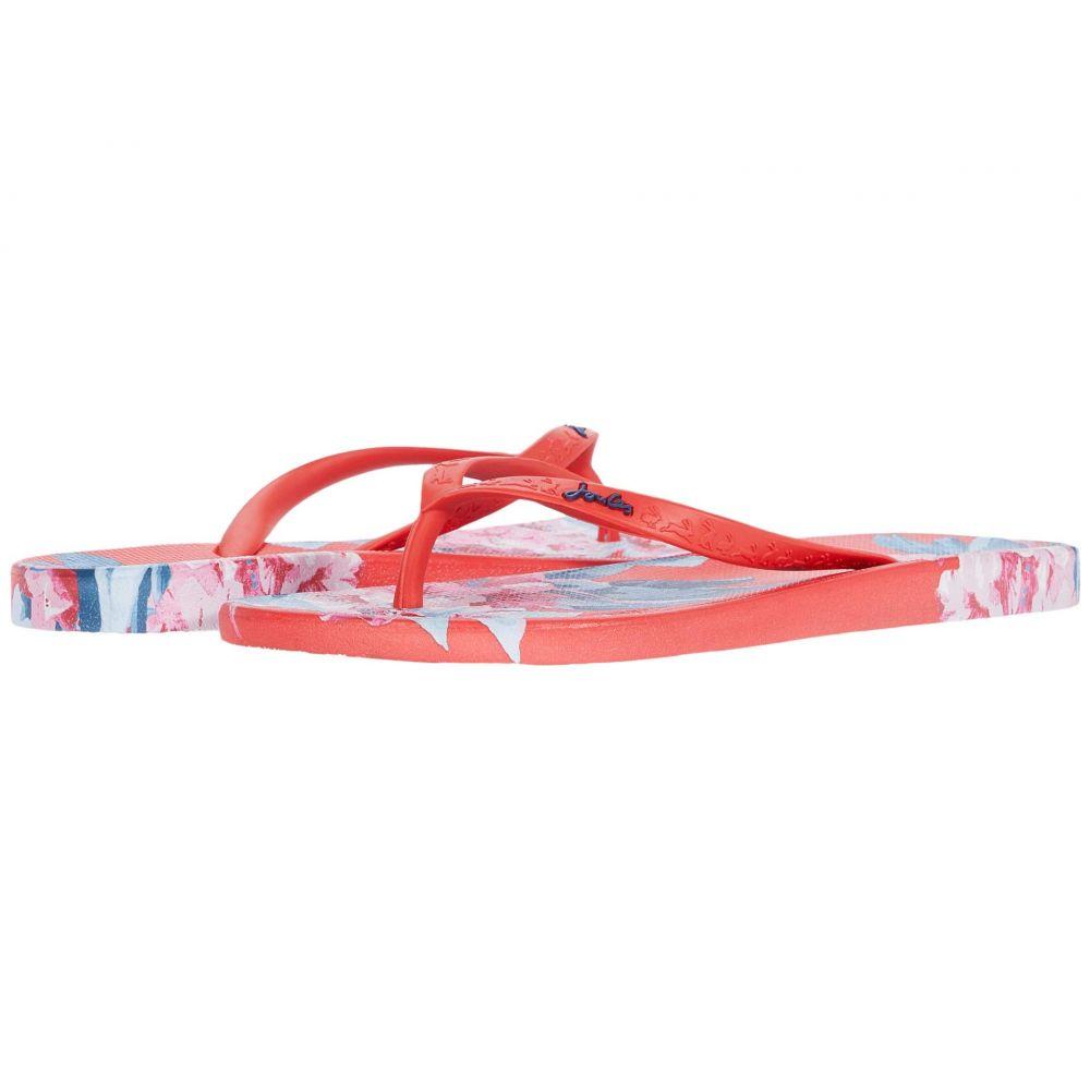 ジュールズ Joules レディース ビーチサンダル シューズ・靴【Flip-Flops】Red Floral