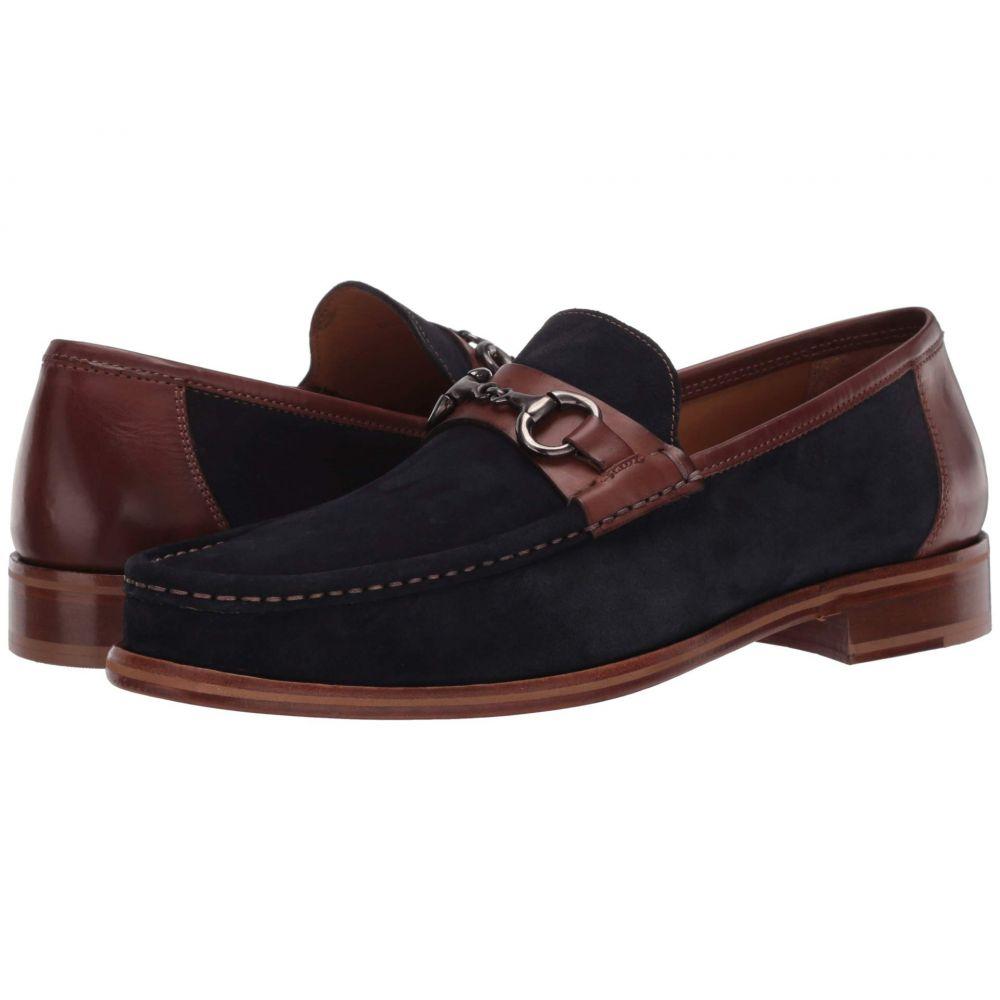 ジョンストンアンドマーフィー J&M Collection メンズ ローファー シューズ・靴【Neilson Bit】Navy