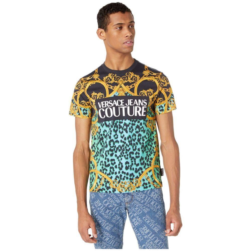ヴェルサーチ Versace Jeans Couture メンズ Tシャツ トップス【Leo Chain Print Logo T-Shirt】Pure Mint