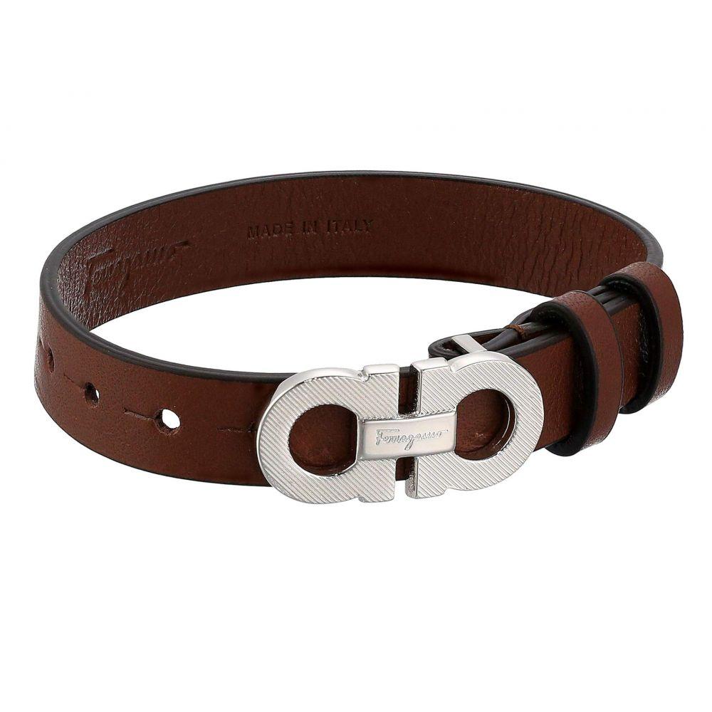 サルヴァトーレ フェラガモ Salvatore Ferragamo メンズ ブレスレット ジュエリー・アクセサリー【Textured Bracelet - 770204】Brown