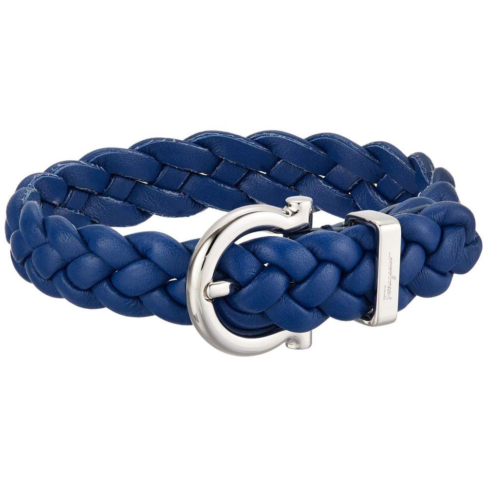 サルヴァトーレ フェラガモ Salvatore Ferragamo メンズ ブレスレット ジュエリー・アクセサリー【Braided Triplait Bracelet - 7701014】Blue