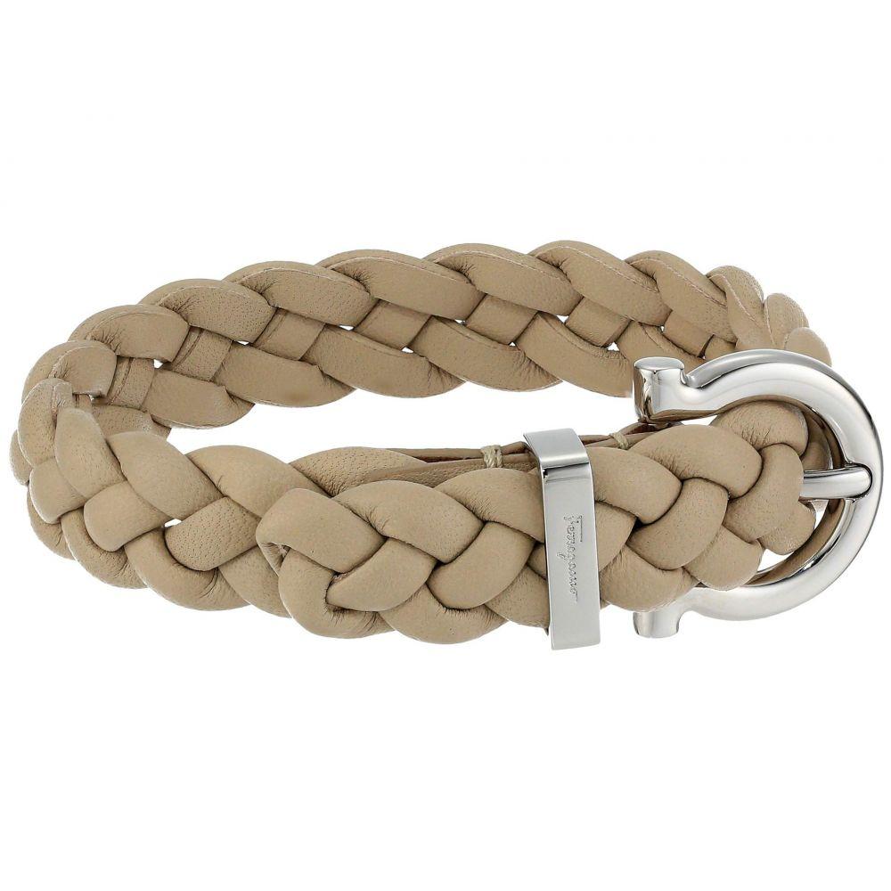 サルヴァトーレ フェラガモ Salvatore Ferragamo メンズ ブレスレット ジュエリー・アクセサリー【Braided Triplait Bracelet - 7701014】Beige