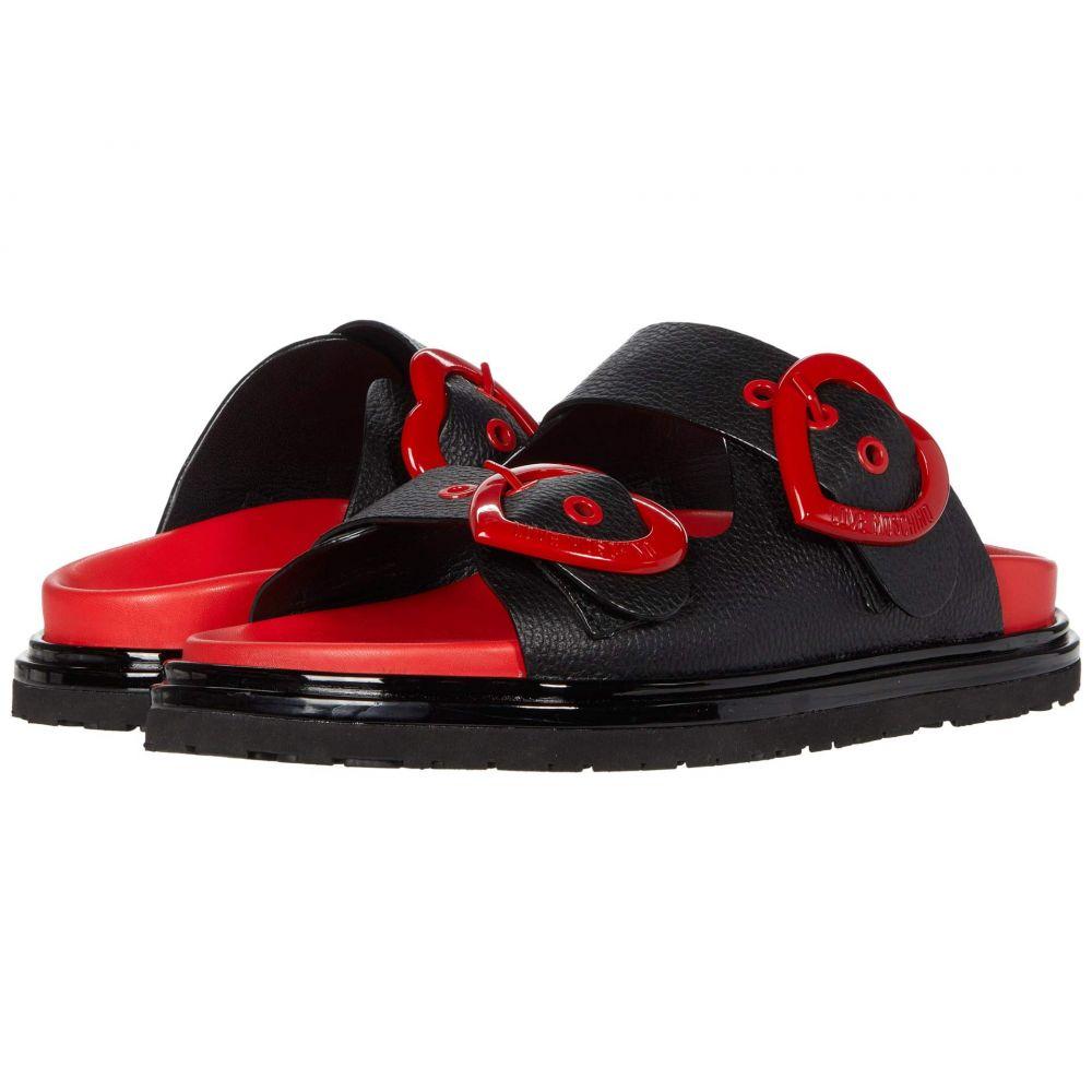 モスキーノ LOVE Moschino レディース サンダル・ミュール シューズ・靴【Heart Buckle Sandal】Black