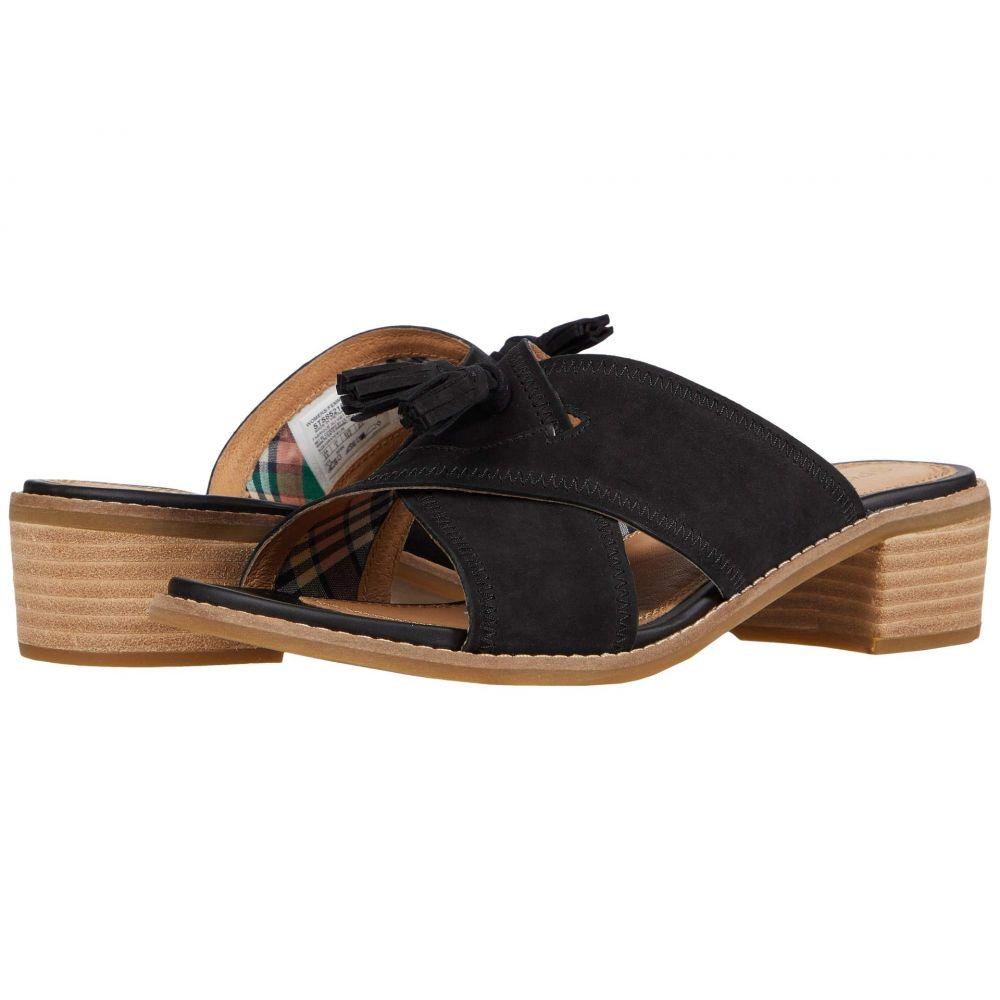 スペリートップサイダー Sperry レディース サンダル・ミュール スライドサンダル シューズ・靴【Seaport City Sandal Tassel Slide Leather】Black
