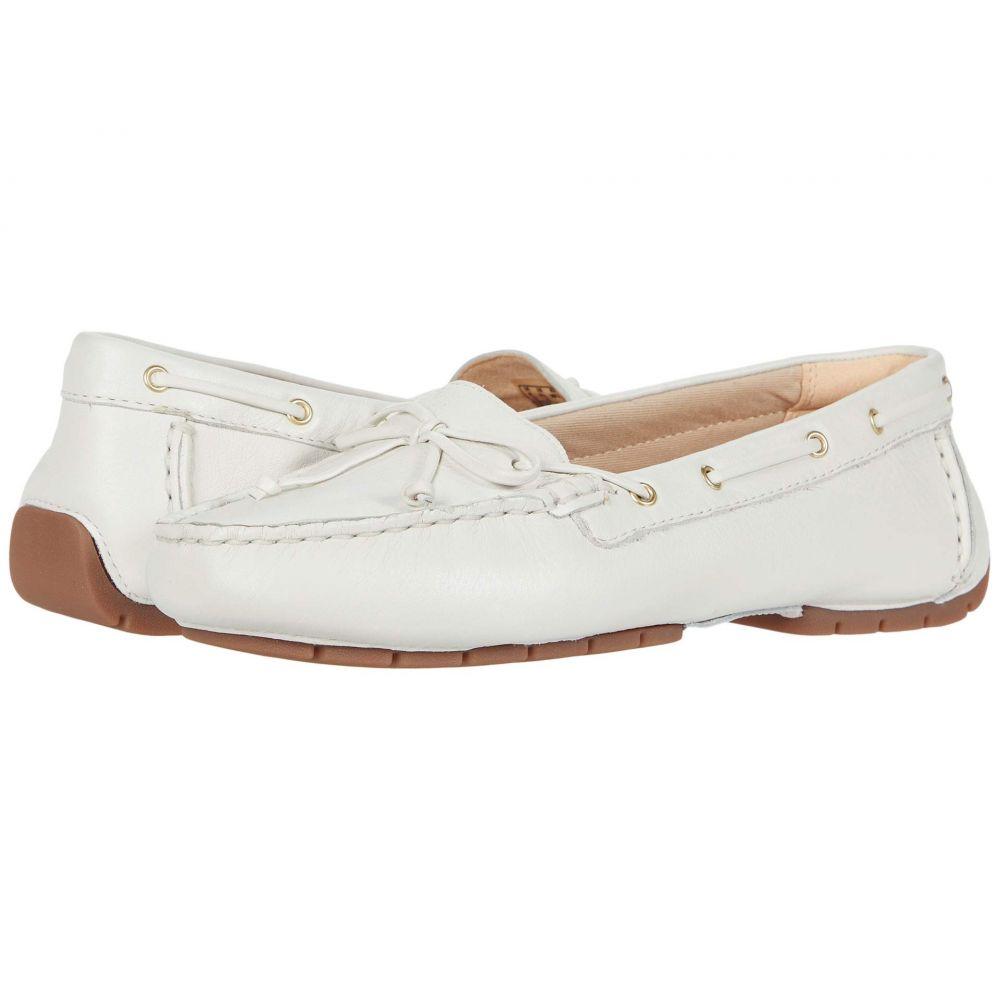 クラークス Clarks レディース スリッポン・フラット シューズ・靴【C Mocc Boat】White Leather