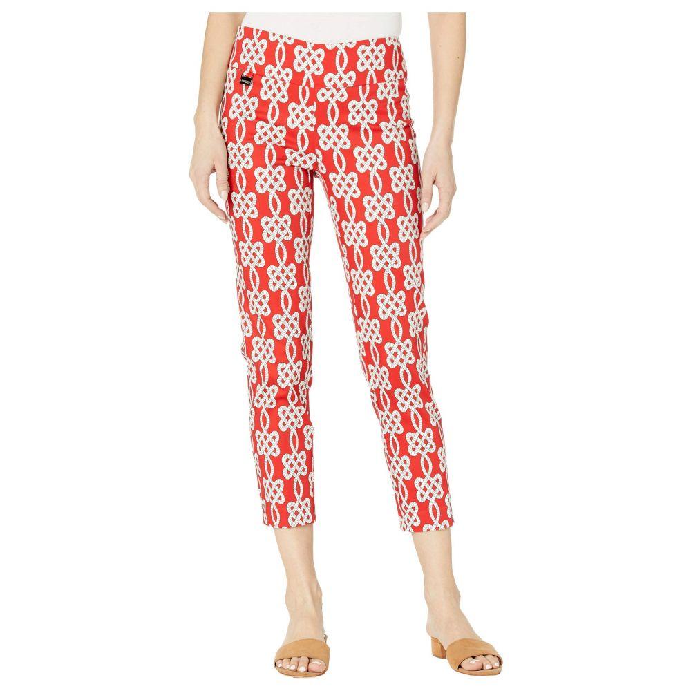 リゼッタ Lisette L Montreal レディース クロップド アンクル ボトムス・パンツ【Maritime Print Pull-On Ankle Pants with Back Slits】Red