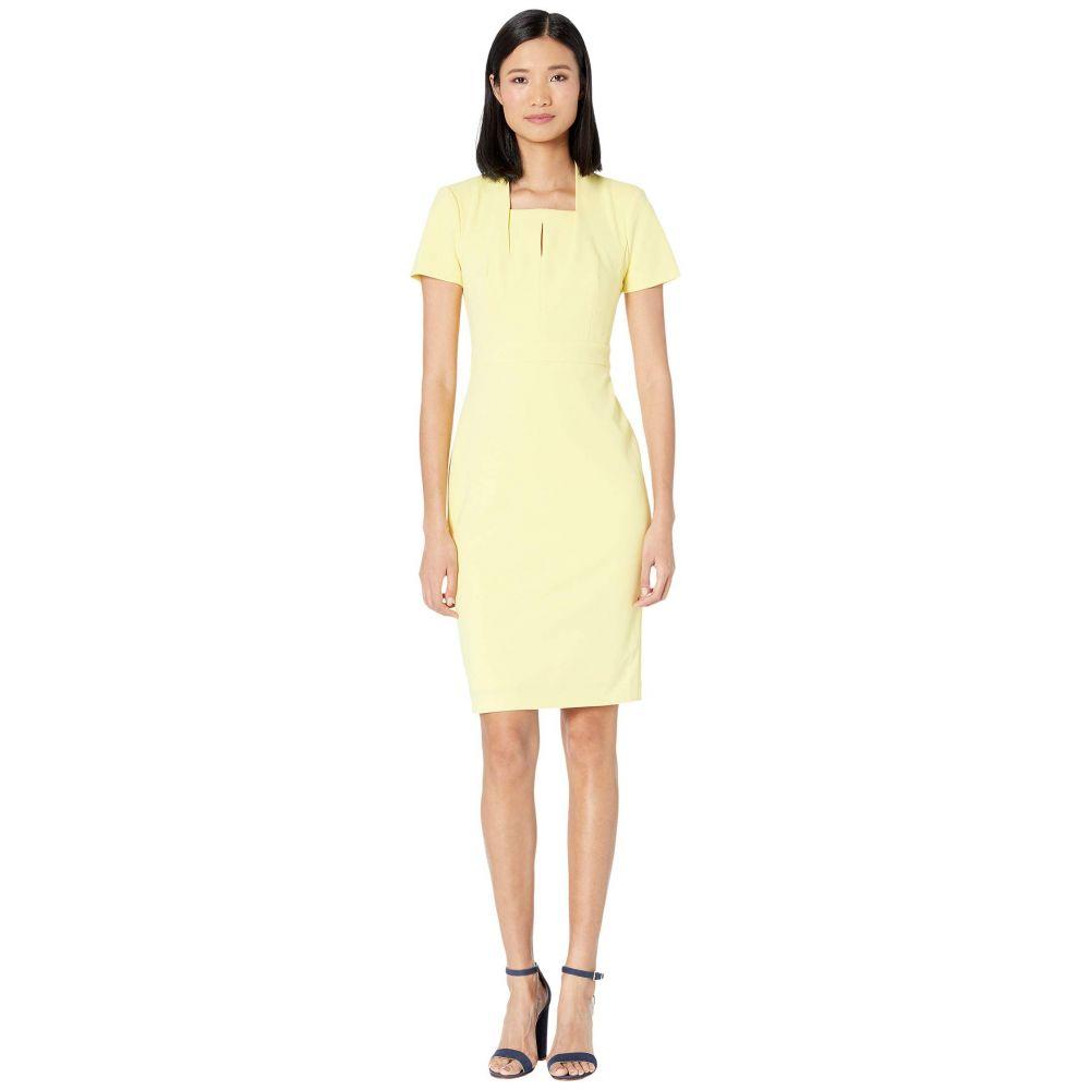 カルバンクライン Calvin Klein レディース ワンピース ワンピース・ドレス【Short Sleeve Sheath Dress with Keyhole】Popcorn