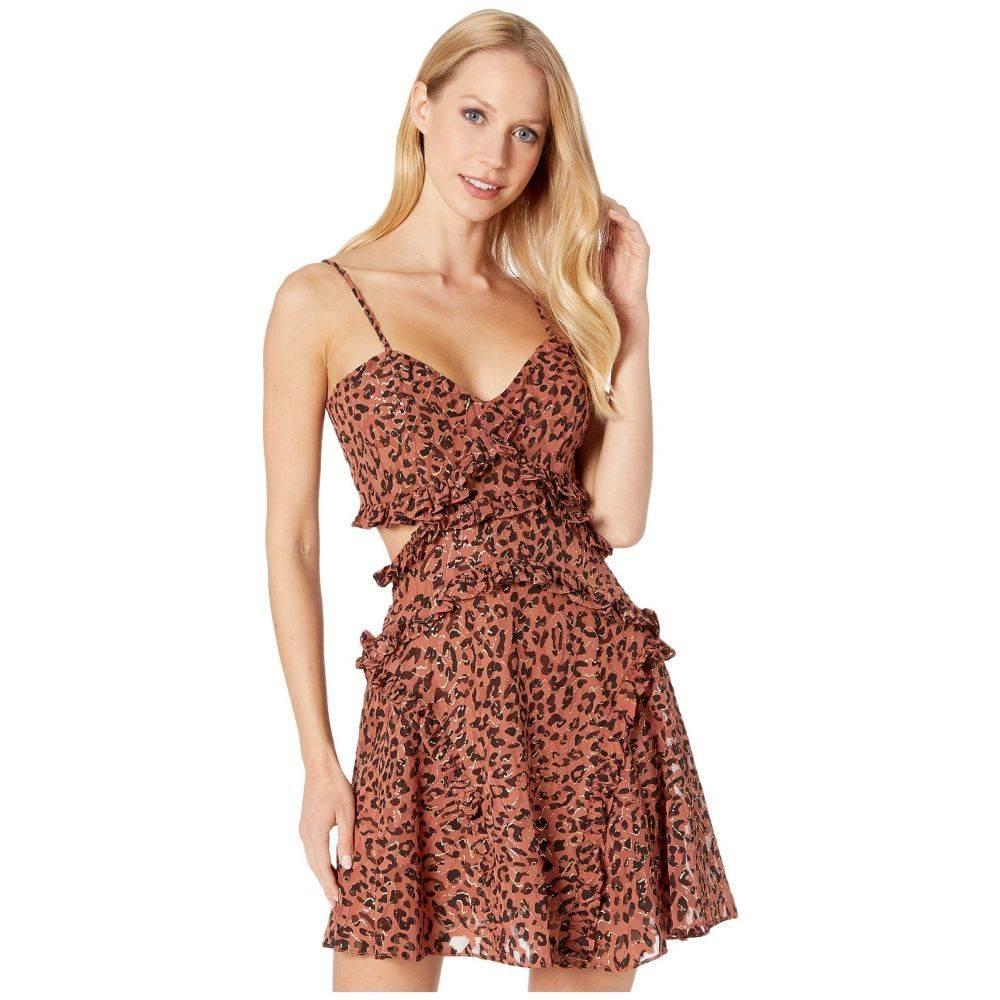 バルドー Bardot レディース ワンピース ワンピース・ドレス【Leopard Frill Dress】Safari Leopard