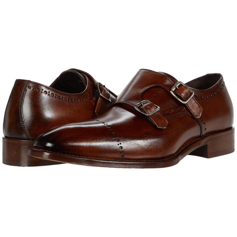 (訳ありセール 格安) ジョンストンアンドマーフィー メンズ シューズ 靴 革靴 ビジネスシューズ Reece Collection JM 奉呈 Monk Mahogany サイズ交換無料