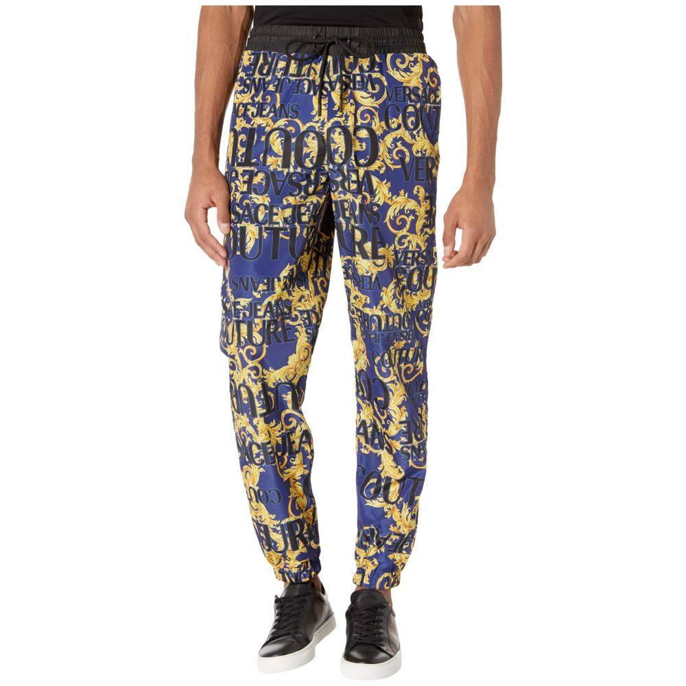 ヴェルサーチ Versace Jeans Couture メンズ ジョガーパンツ ボトムス・パンツ【Logo Baroque Printed Nylon Jogger】