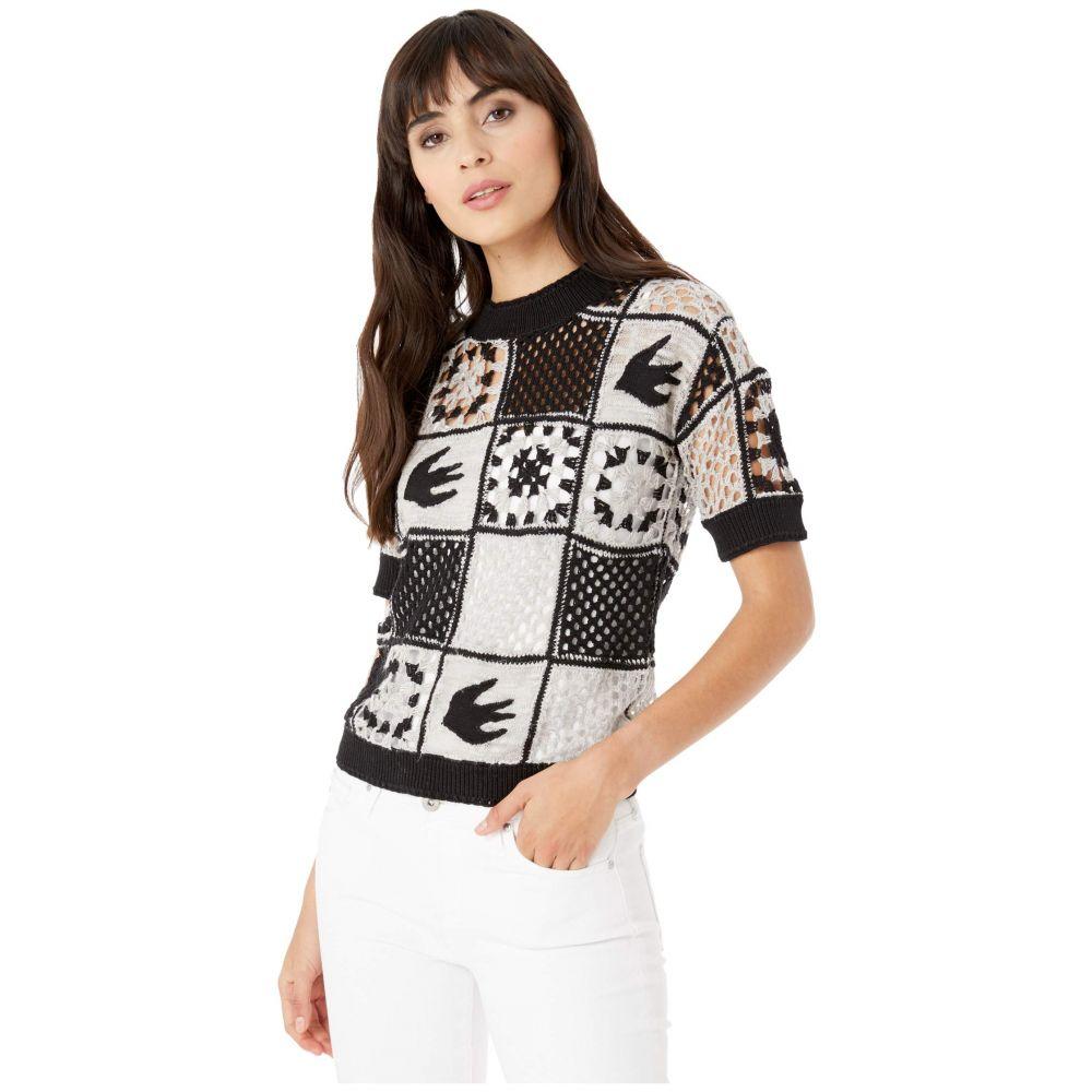 マックイーン McQ レディース ニット・セーター トップス【Kaio T-Shirt Cut Sweater】White/Black