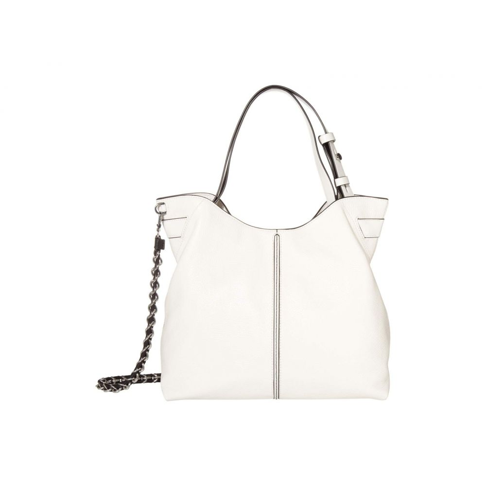 マイケル コース MICHAEL Michael Kors レディース ショルダーバッグ バッグ【Downtown Astor Large Shoulder】Optic White/Black