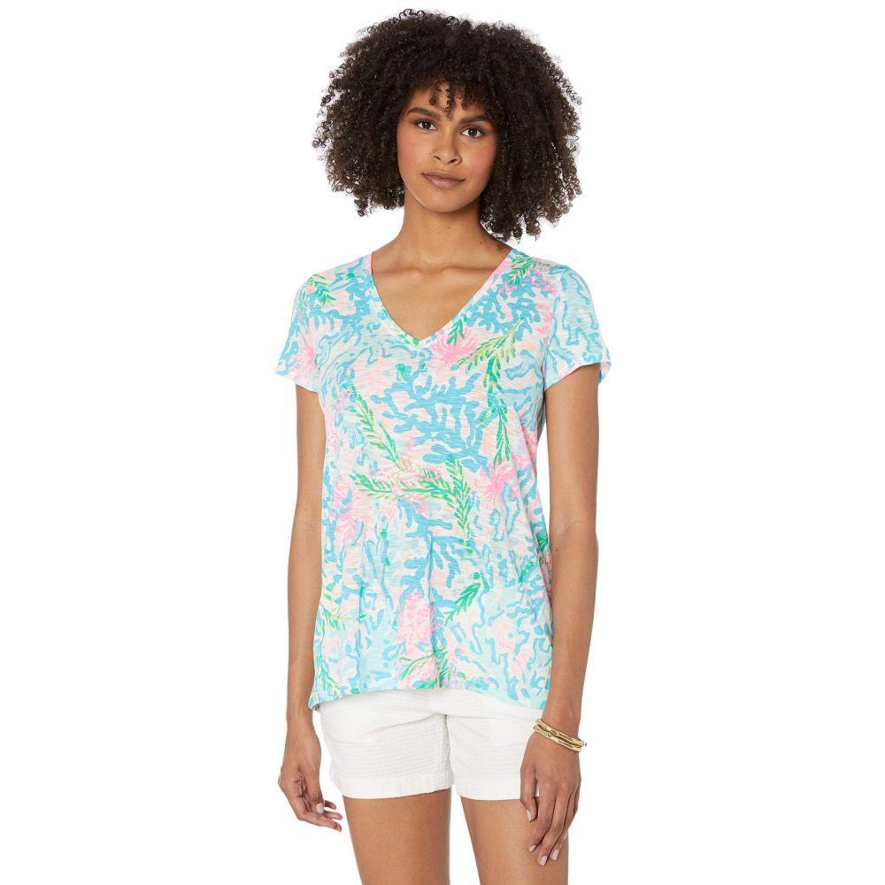 リリーピュリッツァー Lilly Pulitzer レディース Tシャツ トップス【Etta Top】Multi Coral Bay