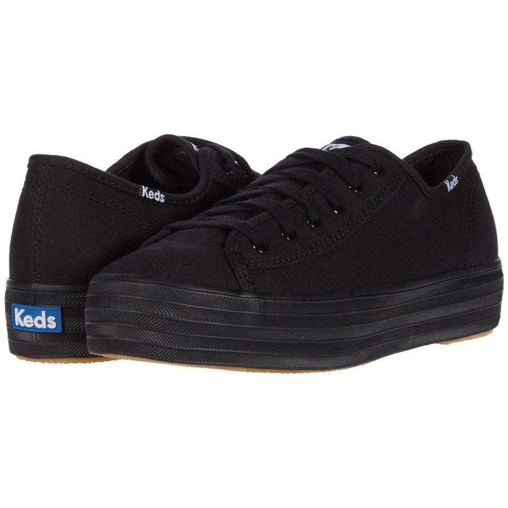 ケッズ Keds レディース スニーカー シューズ・靴【Triple Kick Canvas】Black/Black