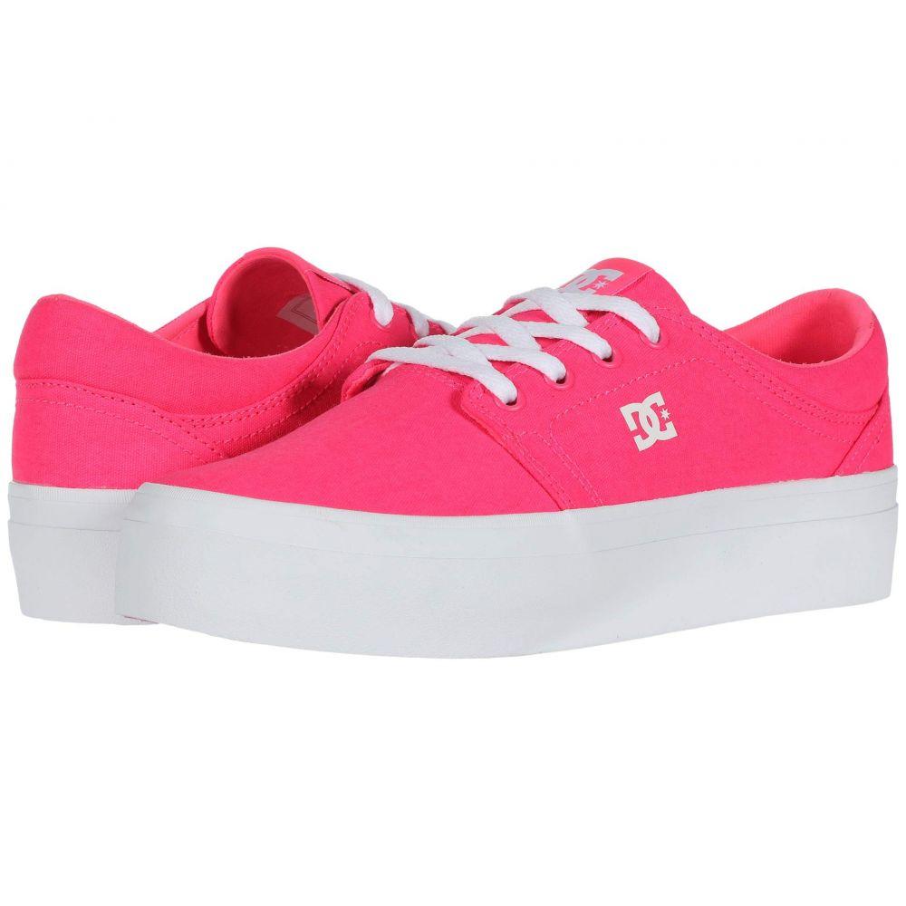 ディーシー DC レディース スニーカー シューズ・靴【Trase Platform TX】Hot Pink