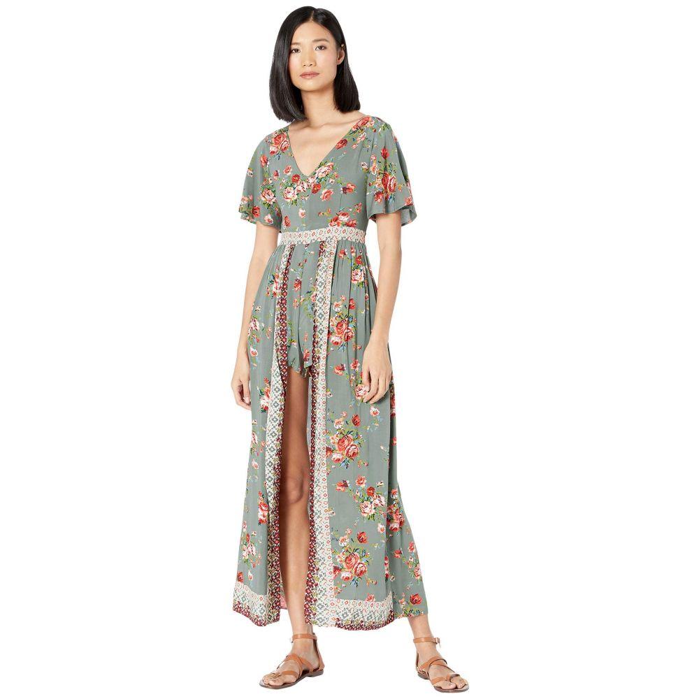 ラングラー Wrangler レディース ワンピース マキシ丈 ワンピース・ドレス【Western Floral Maxi Dress】Sage
