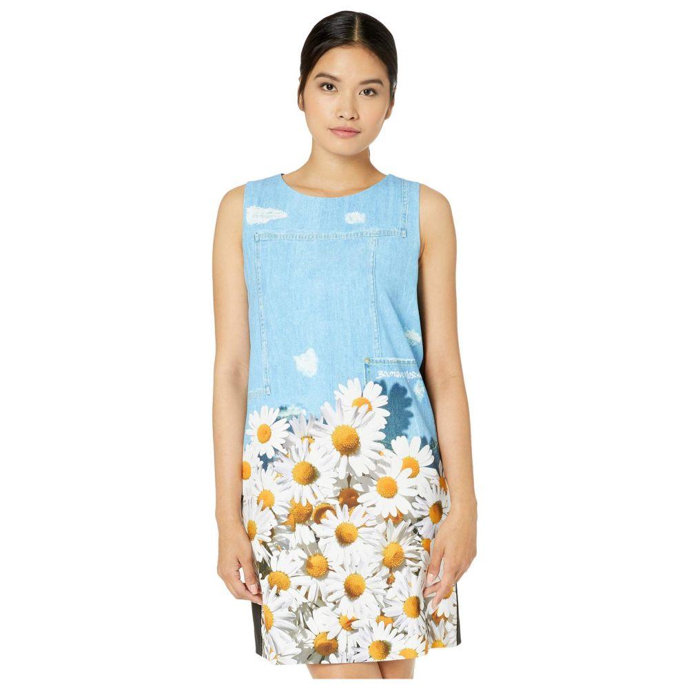 モスキーノ Boutique Moschino レディース ワンピース シフトドレス ワンピース・ドレス【Printed Shift Dress】Light Blue Multi