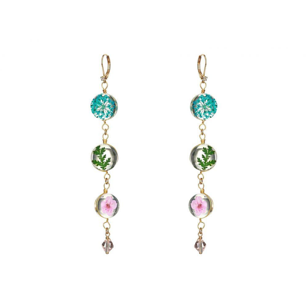 ベッツィ ジョンソン Betsey Johnson レディース イヤリング・ピアス ジュエリー・アクセサリー【Floral Linear Earrings】Multi