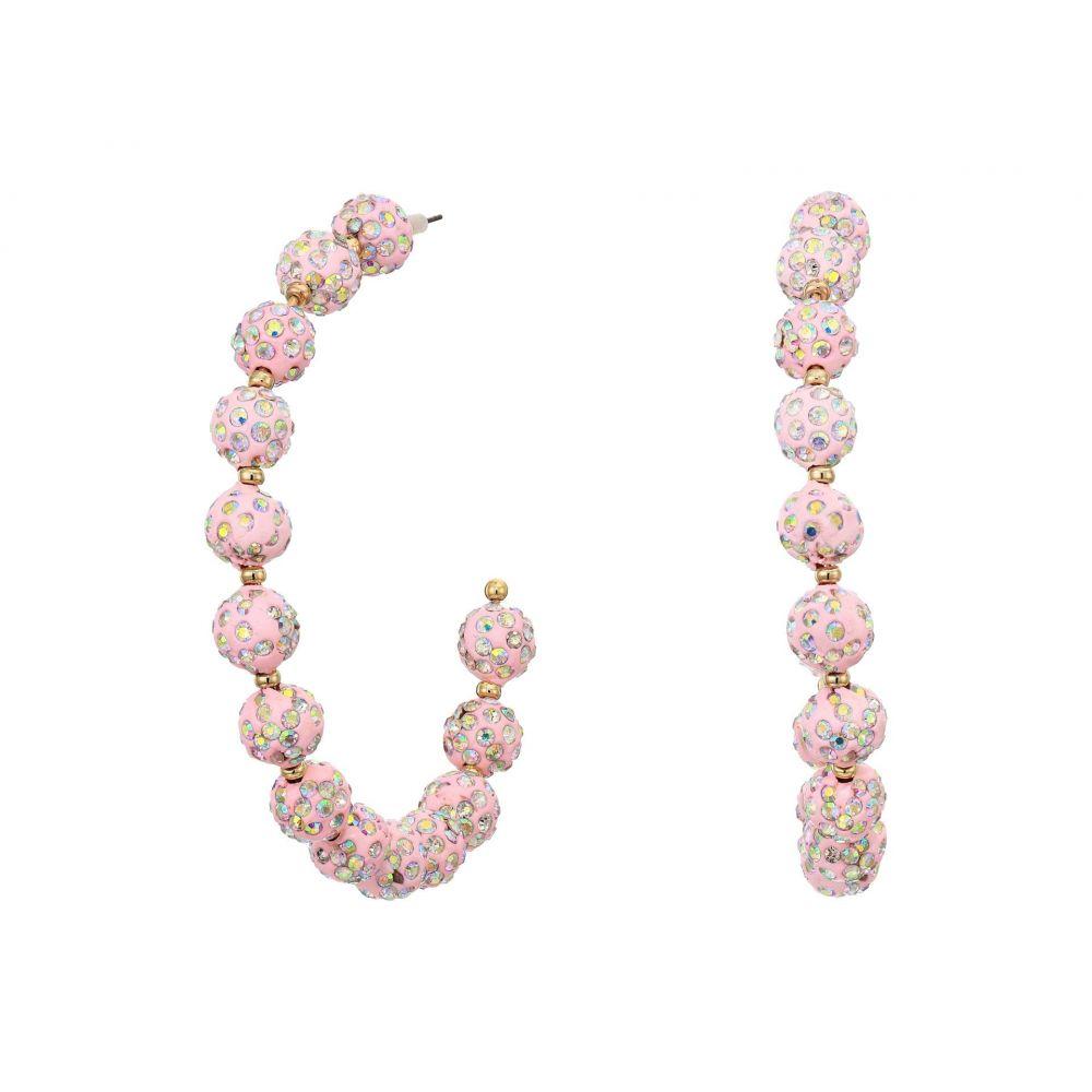 ベッツィ ジョンソン Betsey Johnson レディース イヤリング・ピアス ジュエリー・アクセサリー【Pink Fireball Hoop Earrings】Pink