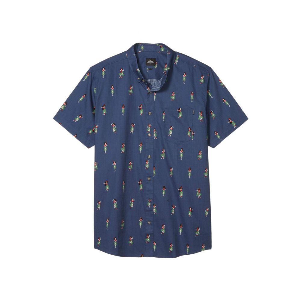 リップカール Rip Curl メンズ 半袖シャツ トップス【Vacation Short Sleeve Shirt】Navy