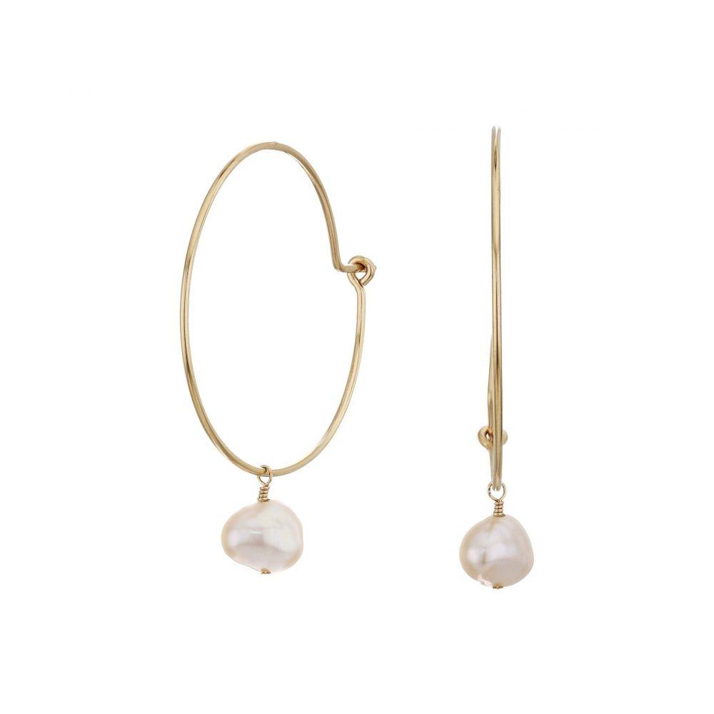 エイブル ABLE レディース イヤリング・ピアス ジュエリー・アクセサリー【Pearl Adornment Hoop Earrings】