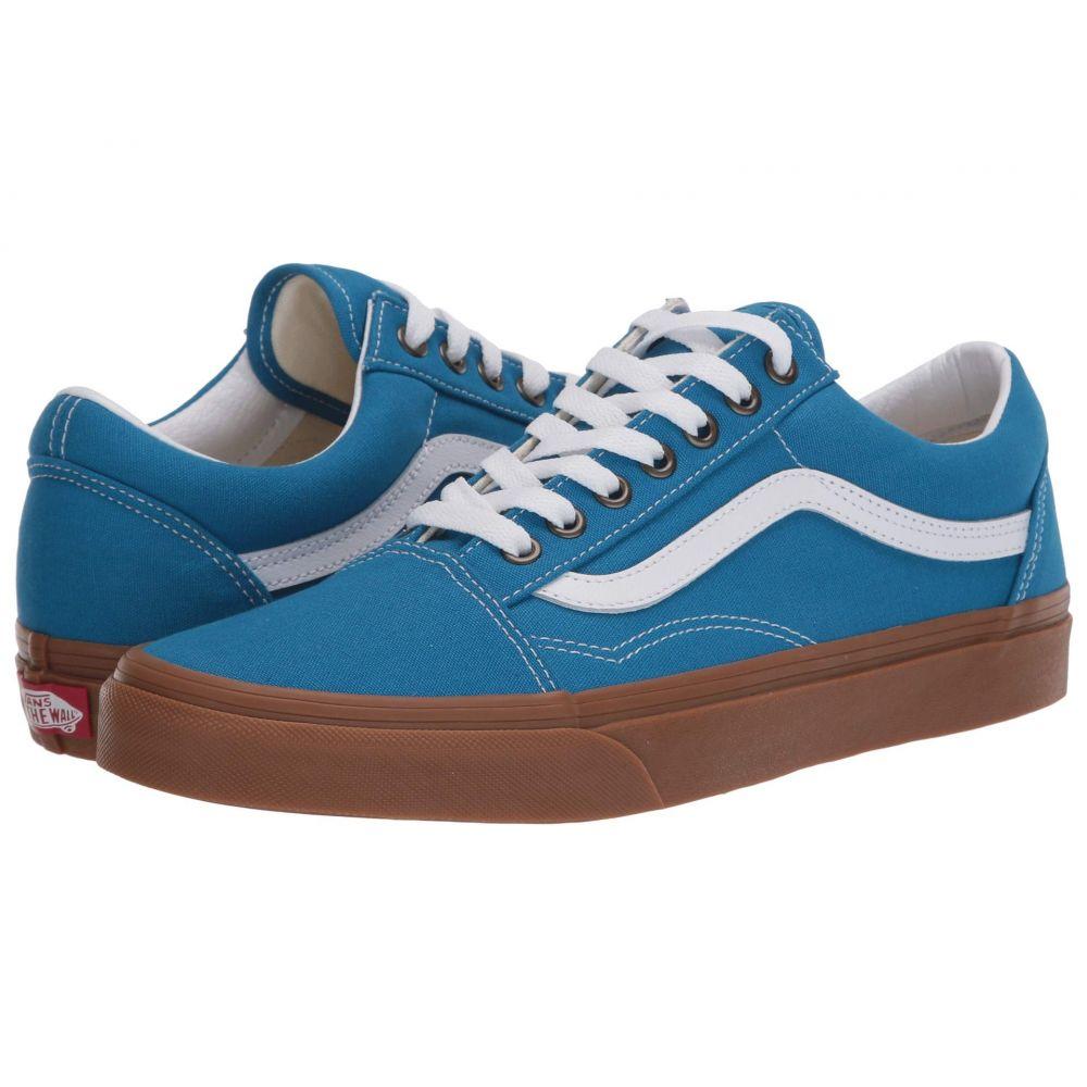 ヴァンズ Vans レディース スニーカー シューズ・靴【Old Skool(TM)】Mediterranean Blue/True White