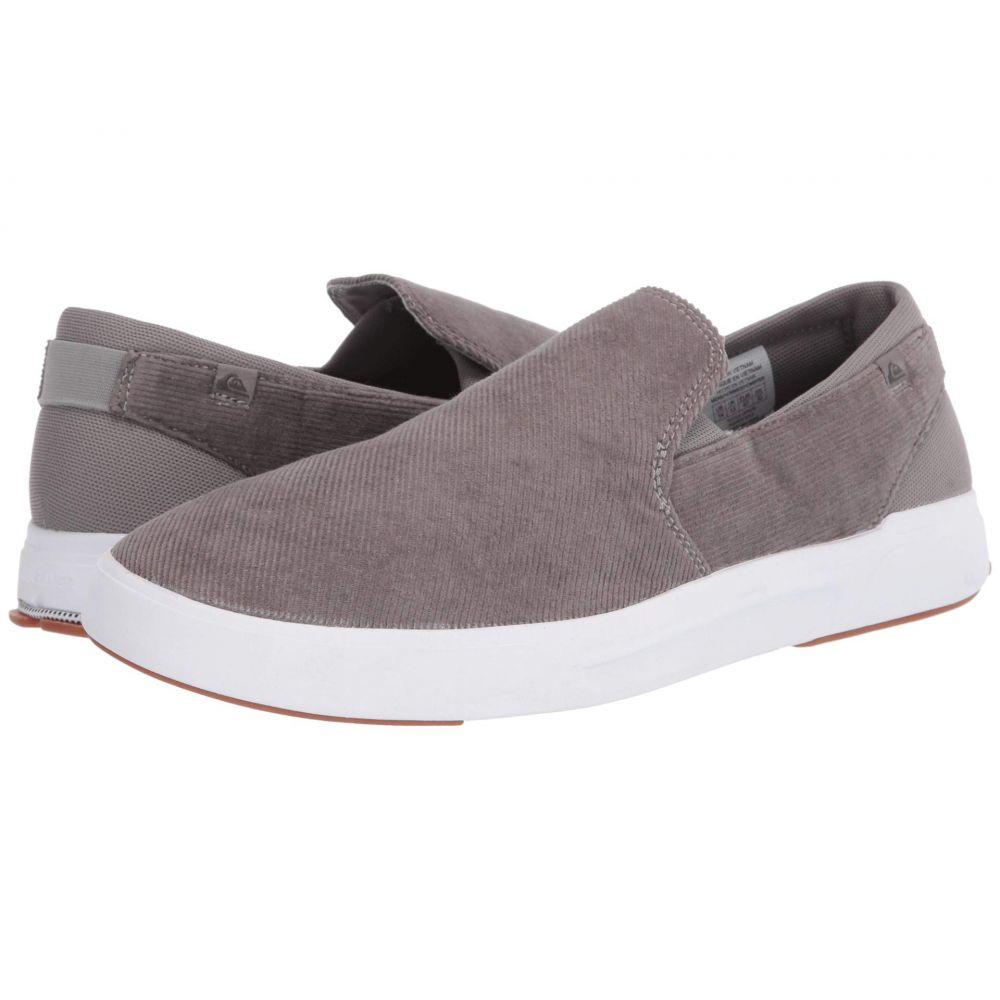 クイックシルバー Quiksilver メンズ スニーカー シューズ・靴【Surf Check II Premium】Grey/Grey/White