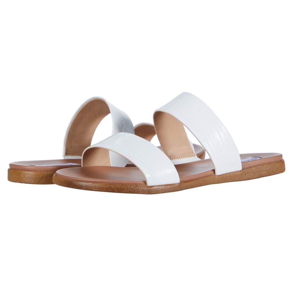 スティーブ マデン Steve Madden レディース サンダル・ミュール フラット シューズ・靴【Dual Flat Sandal】White Croco