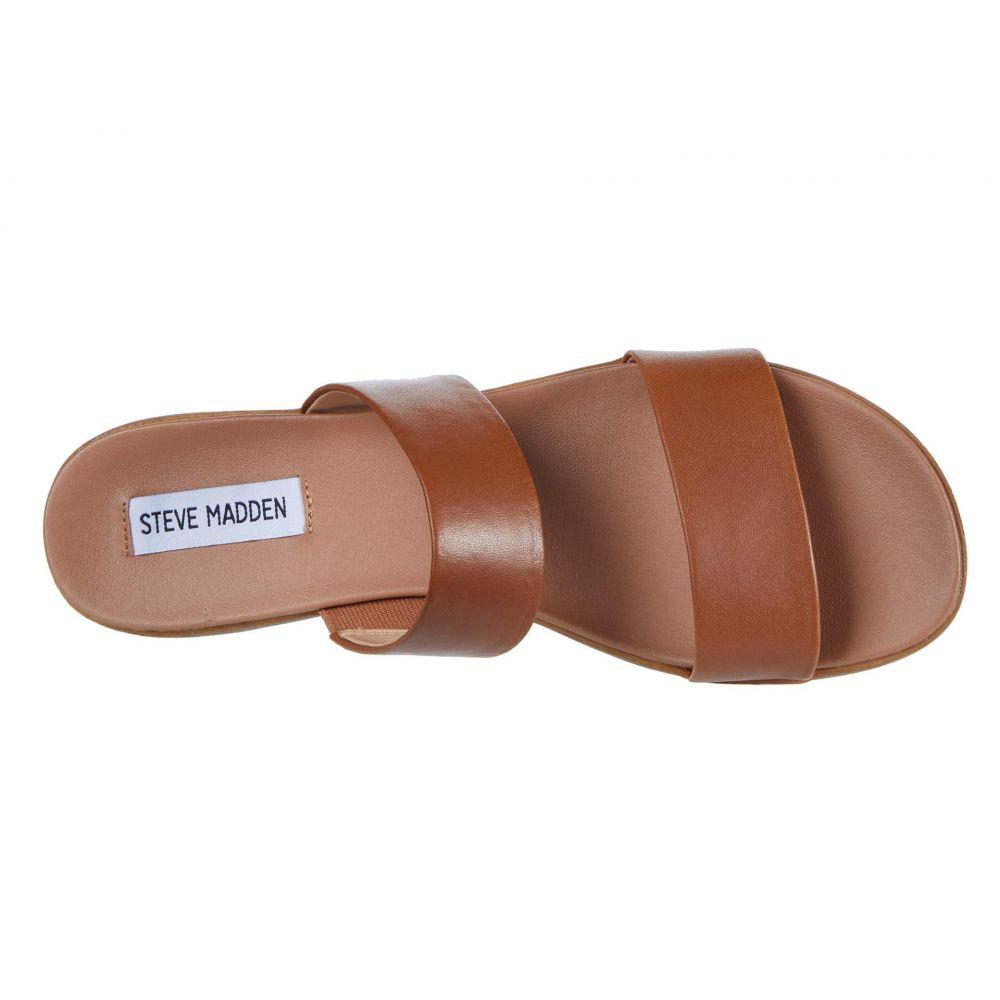 スティーブ マデン Steve Madden レディース サンダル・ミュール フラット シューズ・靴 Dual Flat Sandal Tan LeatherxBedoC