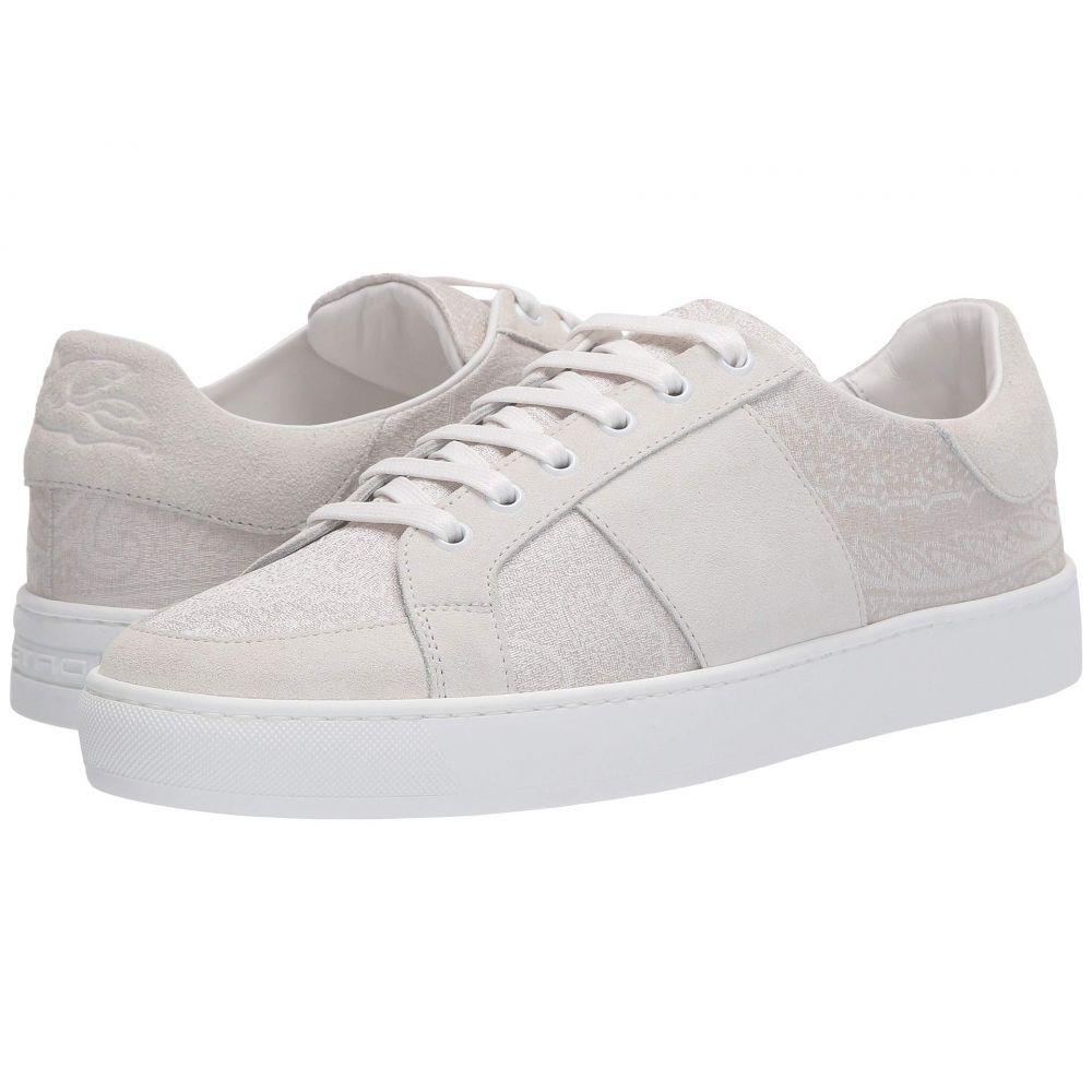 エトロ Etro メンズ スニーカー シューズ・靴【Paisley/Suede Tennis Sneaker】White
