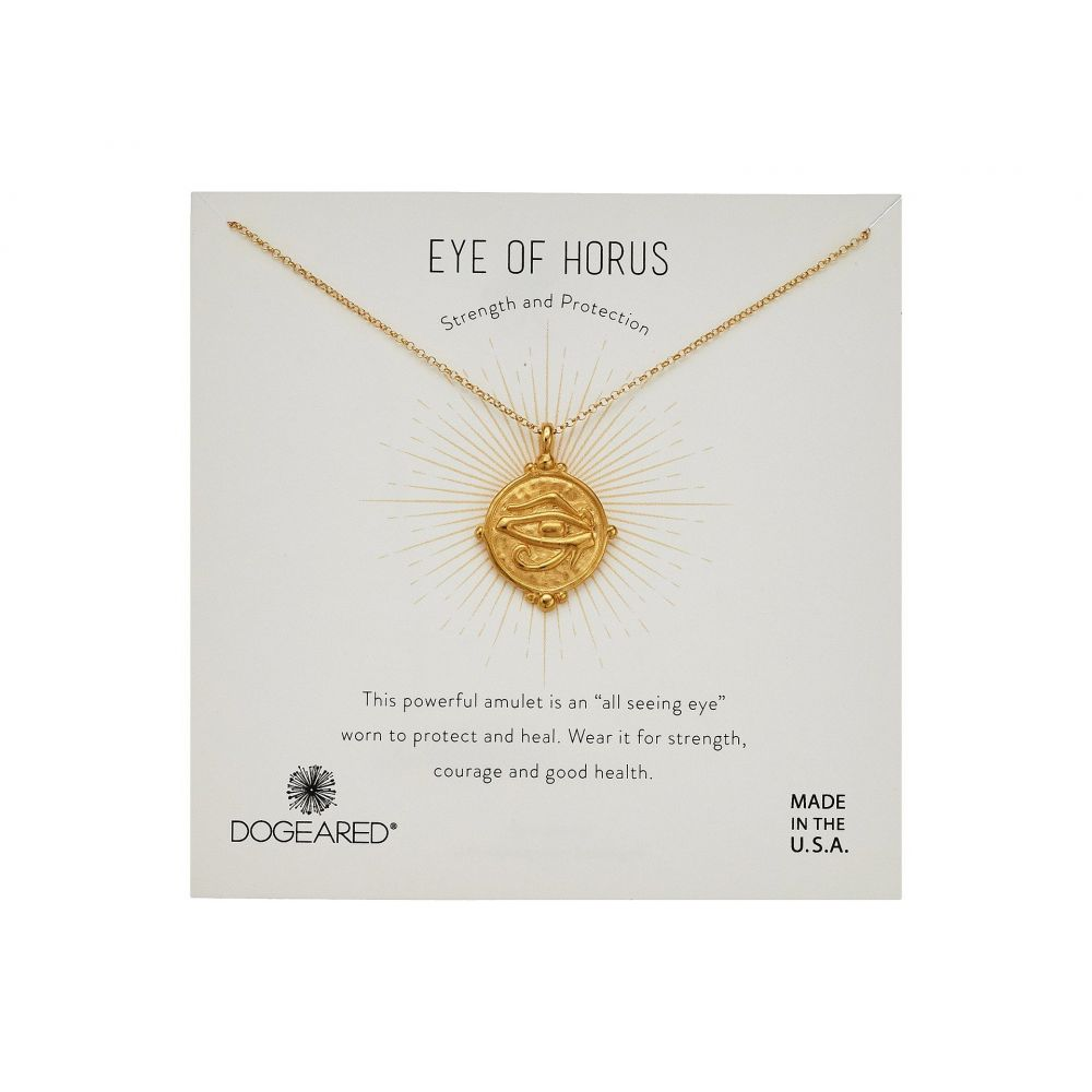 ドギャード Dogeared レディース ネックレス ジュエリー・アクセサリー【Eye of Horus Coin Necklace】