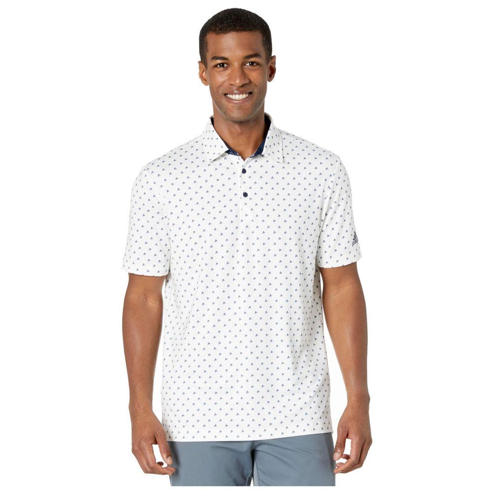 アディダス adidas Golf メンズ ポロシャツ トップス【Ultimate365 Badge of Sport Polo Shirt】White/Collegiate Navy