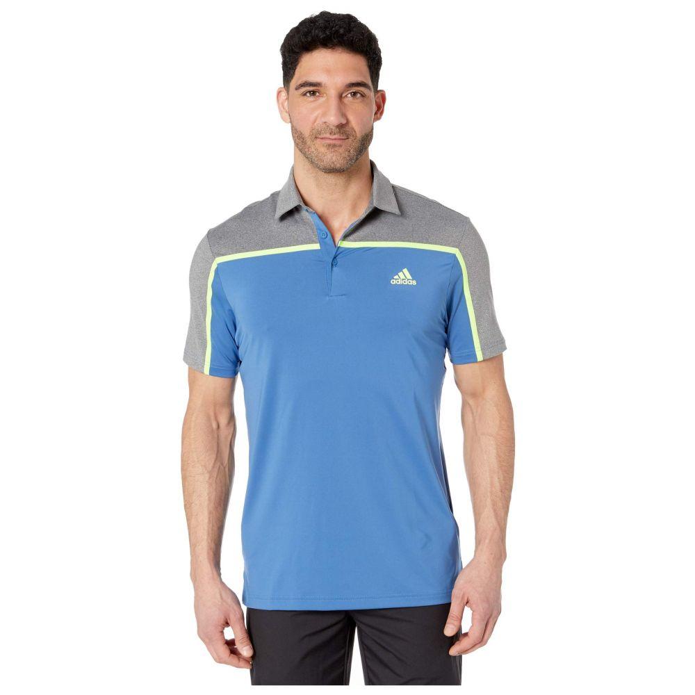 アディダス adidas Golf メンズ ポロシャツ トップス【Ultimate365 Color Block Polo Shirt】Trace Royal/Grey Four Melange