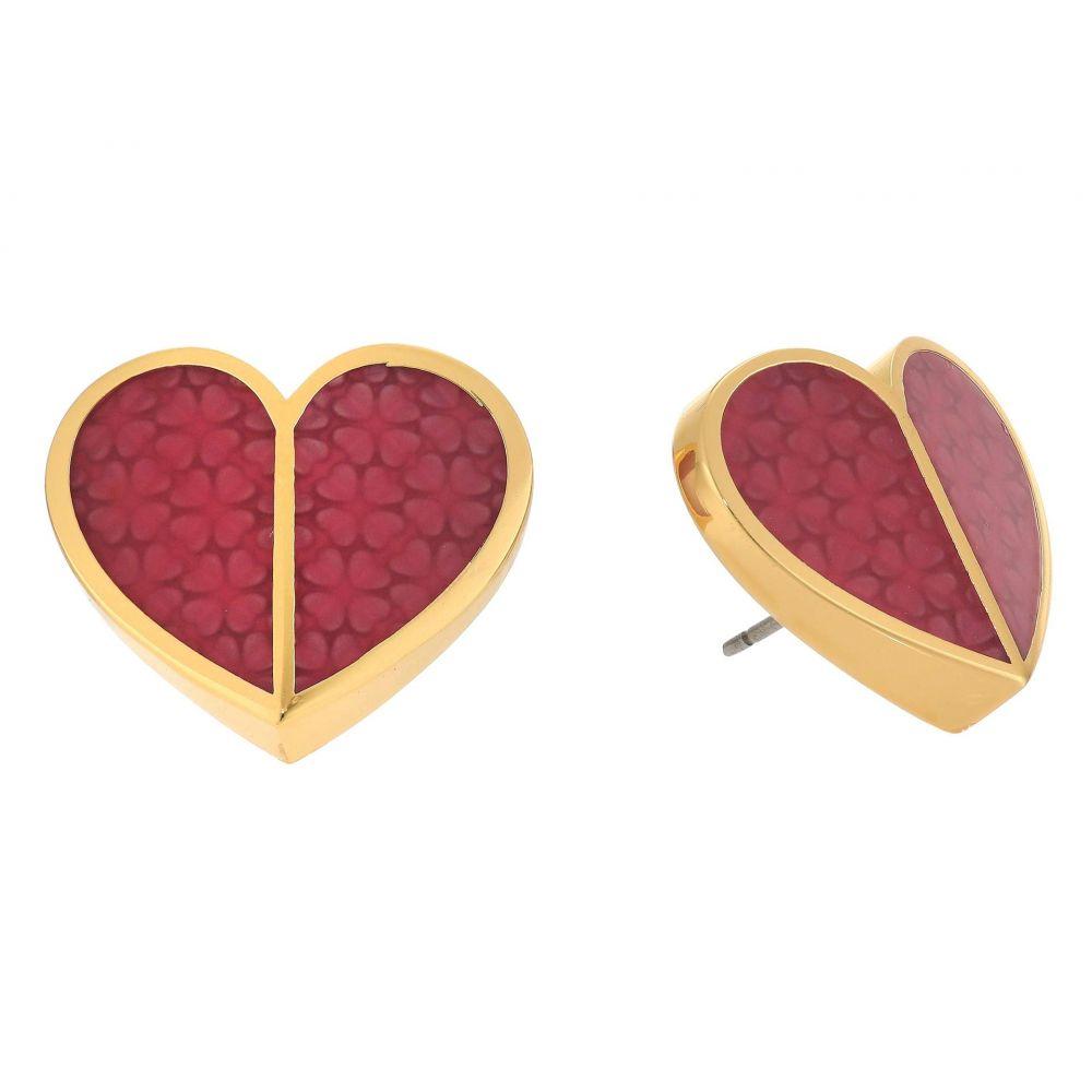 ケイト スペード Kate Spade New York レディース イヤリング・ピアス ハート ジュエリー・アクセサリー【Heritage Spade Textured Heart Statement Studs Earrings】Pink