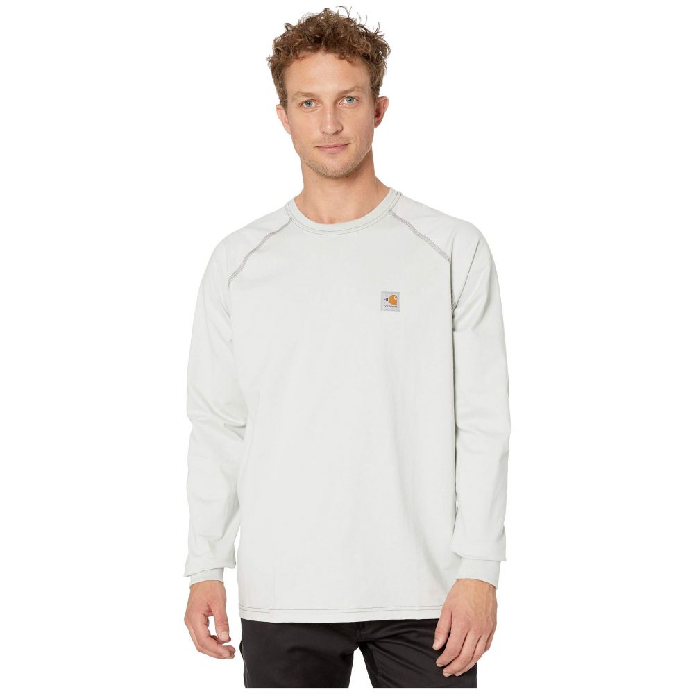 カーハート Carhartt メンズ 長袖Tシャツ トップス【Flame-Resistant (FR) Force Long Sleeve T-Shirt】Light Gray